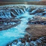 The blue waterfall - Bruarfoss - Iceland thumbnail