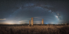 Three-Kings (rafaberlanga) Tags: olympus laowa night panorama panoramic nebula milky monument nature shine silhouette universe way sky space star long landscape clear constellations blue beauty dark evening historic landmark galaxy field exposure ancient