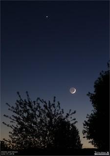 Moon and Venus - June 15, 2018