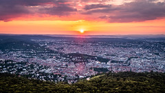 Sunset on Stuttgart - Germany - Cityscape photography (Giuseppe Milo (www.pixael.com)) Tags: fineart landscape sunset nature germany city clouds urban travel forest photography view sky photo stuttgart europe geotagged photograph badenwürttemberg de onsale