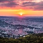 Sunset on Stuttgart - Germany - Cityscape photography thumbnail