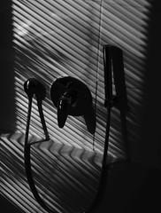 Bathing in shadows (frankdorgathen) Tags: banality banal mundane minimalistisch minimalismus minimalistic minimalism hoherkontrast highcontrast schwarzweis schwarzweiss blackandwhite monochrome sonne sun schatten licht shadow light badezimmer bathroom ruhrgebiet ruhrpott rüttenscheid essen