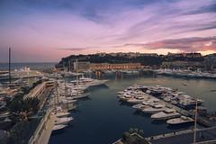 Yacht Club  in Monaco (www.alexandremalta.com) Tags: sunset sky sea landscape seascape boat yachtclub monaco montecarlo