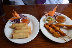DSC_7408 Brigg North Lincolnshire Bridge Street The White Hart Marston's English Pub Delicious Thai Food Chicken Sate and Spring Rolls (photographer695) Tags: brigg north lincolnshire bridge street the white hart marstons english pub delicious thai food chicken sate spring rolls