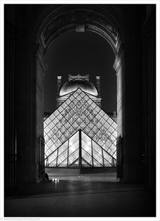 Musee de Louvre at Night III / Paris, France