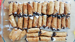 Filled & Dipped Cannolis (osiristhe) Tags: cellphone food cooking