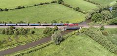 60020 near Weston on Trent (robmcrorie) Tags: 60020 6e54 kingsbury humber oil tanks train rail railway trent mersey canal weston bridge phantom 4
