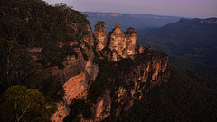 Blue Mountains (Miradortigre) Tags: australia bluemountains sandstone ridge landscape paisaje sunset atardecer