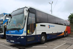 Stagecoach 54076. (anthonymurphy5) Tags: plaxton volvo coaches stagecoach busphotography busgarage bus outside stagecoach54076 sf59fyv volvob12bplaxtonpanther gillmossbusgarage 020618