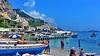 Amalfi Beach (gerard eder) Tags: world travel reise viajes europa europe italy italia italien campania amalfiküste amalfi amalficoastline amalficoast sea seascape harbour hafen harbor puerto beach paisajes panorama playa boats boote barcas outdoor golfofsalerno golfodisalerno
