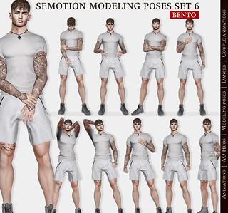 SEmotion Male Bento Modeling Poses Set 06 - 10 modeling poses