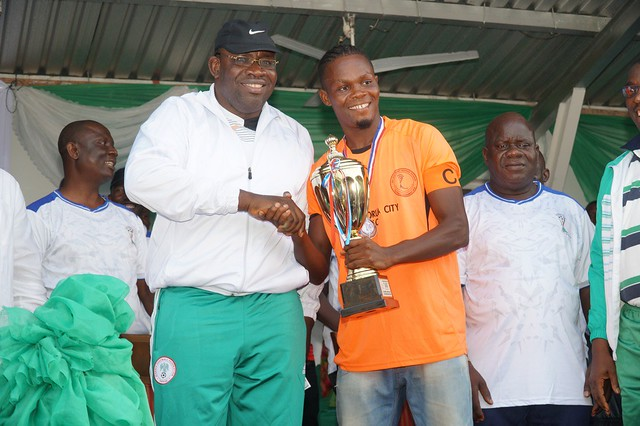 HSDickson - Makes remark at the Finals of the Restoration Cup Tournament, Samson Siasia Stadium, Yenegoa 3rd JUNE 2018