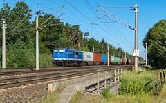 Radbruch Wald EGP 151 039-5 Container (Wolfgang Schrade) Tags: egp eisenbahngesellschaftpotsdam br151 1510395 altenwerder containerzug container kbs110 radbruch zug güterzug eisenbahn
