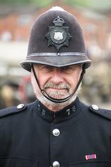 GCR 1940s weekend. (Adrian Walker.) Tags: elements policeman copper gcr