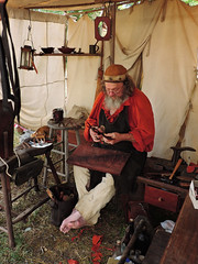 A Pioneer Craftsman (Tim7778) Tags: pioneer colonial historical portrait craftman tent colorful