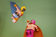 Luchadores (WhiteBrix) Tags: lego minifigure luchadores mexican wrestling citizen brick custom luchador heads
