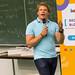 Dr. Julian Hosp bei seinem Vortrag in der Universität Köln