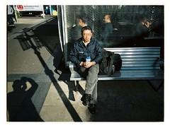 Calm (@fotodudenz) Tags: box hill melbourne victoria australia 2018 fuji fujifilm ga645w ga645wi medium format wide angle point shoot 28mm 45mm kodak portra 160 man sitting mall sunny sunshine street photography