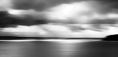 Sea to Sky (beelzebub2011) Tags: usa washingtonstate whidbeyisland bw monochrome sea sky icm intentionalcameramovement