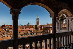 Roofs of Venice (Magda Banach) Tags: campaniledisanmarco canon italy palazzocontarinidelbovolo scalacontarinidelbovolo wenecja włochy architecture buildings city cityscape colors rooftops tiles venice view venezia veneto it europa