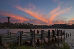 Bonelli sunset (BDFri2012) Tags: sunset bonellipark bonelli lake dock puddingstonelake puddingstone clouds fishermen losangelescounty southerncalifornia california ca southwestunitedstates americansouthwest park