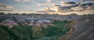 Badlands Sunset Panorama