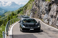Ferrari 488 GTB (Nico K. Photography) Tags: ferrari 488 gtb black supercars combo view mountains nicokphotography switzerland klausenpass