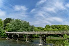 Bridge over the river Ribble. Seen inside Avenham Park , Preston , Lancashire - June 2018 ! (I.T.P.) Tags: bridge river ribble avenham park preston lancashire