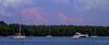 Tranquility on Biscayne Bay. (Aglez the city guy ☺) Tags: miamifl biscaynebay waterways seascape sailboat yacht boats clouds walkingaround walking outdoors lateafternoon trees water urban