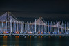 south beach harbor at mccovey cove (pbo31) Tags: sanfrancisco california nikon d810 night color may 2018 boury pbo31 missionbay port bay water harbor sail marine sailboat baybridge 80 bridge southbeach marina black dark