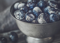 Cool Blue (Lisa Bell Jamison) Tags: blueberries stilllife frosty cold bowl berries blue
