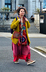 Colours and Patterns (Owen J Fitzpatrick) Tags: ojf people photography nikon fitzpatrick owen pretty pavement chasing d3100 ireland editorial use only ojfitzpatrick eire dublin republic city tamron candid joe candidphotography candidphoto unposed natural attractive eye beautiful woman female lady j along photoshoot street 2018 dun laoghaire rathdown prom promenade road dslr scarf colour color colourful cardigan bag shades sunglasses contact beauty patterns digital streetphoto streetphotography