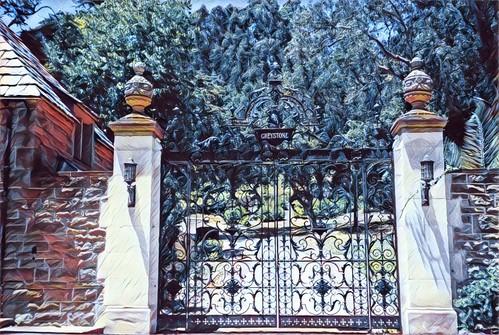 Los Angeles  California - Beverley Hills  - Greystone Mansion -  Gate