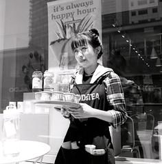 Tea? (ocarmona) Tags: toronto tea candid downtowntoronto yashicamat124g fuji acros100 rodinal standdevelopment 1100