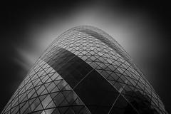 Empire state human (blondmao) Tags: thegherkin glass kenshuttleworth england bnw fineart skyscraper noperson london cityoflondon dark building architecture bw blackandwhite swissretower 30stmaryaxe normanfoster