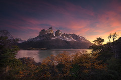 Sunrise Over Nordenskjold in Torres Del Paine National Park, Patagonia (Foto Fresh) Tags: moody colorful brilliant sunrise light sun glow patagonia argentina chile torresdelpaine nationalpark framing lagonordenskjold lightpainting sony a7r3 a7riii wideangle clonepainting photoshop luminositymask 1635mm
