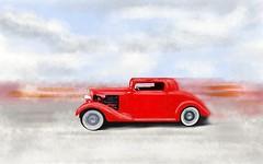 Ford model A hot rod... (GP1805) Tags: sketchbookpro hotrod ford red draw drawing digitalart art artist artwork