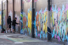 artists at work (Greg Rohan) Tags: graffiti graffitiartists graffitiart graff sydney spraycanart spraypaintart aerosolart people paintedstreetwalls paintedstreetart streetart urbanart urban artwork artist art arte d750 2018 nikon nikkor