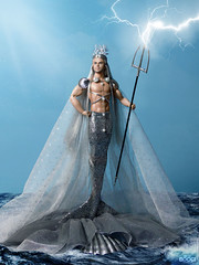 POSEIDON (davidbocci.es/refugiorosa) Tags: poseidon barbie mattel fashion doll muñeca refugio rosa david bocci ooak god sea ocean ken neptune