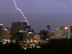 Lightning in Downtown Houston - 5 (J-a-x) Tags: downtown houston texas usa lightning storm thunderstorm weather meteorology