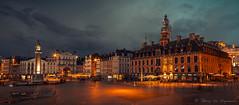 Lille (vanregemoorter) Tags: lille france city cityscape night bluehour colour ciel ville bâtiment eau