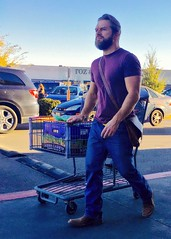 IMG_2371 (danimaniacs) Tags: elpaso hot sexy man guy mansolo beard scruff hunk jeans shopping cart