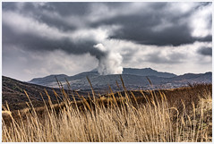 a link to the sky (i.v.a.n.k.a) Tags: ivanadorn ivanahesova sonyalpha volcano steam active volcanoes mount nakadake aso kyushu japan kumamoto landscape
