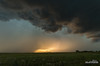The Other Side of Sunset (kevin-palmer) Tags: greatplains faith southdakota storm stormy thunderstorm severe supercell june spring summer evening clouds weather sky pentaxk5 tamron1750mmf28 field lightning strike bolt electric outflow gustfront sunset green grass gold golden glow sunlight