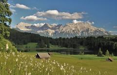 Geroldsee (adr.vesa) Tags: karwendel landscapes panorama mountains lake forest bavaria bayern germany gerold geroldsee nature barns canon