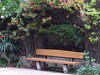 Sheltered bench (Pat's_photos) Tags: london garden bench hbm