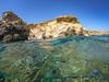 Unterwasserwelten (gaengler) Tags: uw unterwasser kreta crete greece shorkeling dive diving fish fische blau wasser meer mittelmeer salzwasserreflection felsen rock