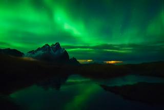 Vestrahorn sky green