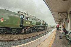 Lord Dowding through Flint (8mm & Other Stuff) Tags: 8mm steam engine passing through flint fisheye canon 40d