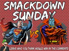 Smackdown Sunday- Superman VS Gladiator (Luigi Fan) Tags: superman vs gladiator marvel dc comics